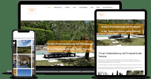 Referenzbeispiel Webdesign für Hotels und Ferienwohnungen