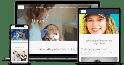 Referenz Beispiel Webentwicklung und Online Marketing für Ärzte, Zahnärzte und Kieferorthopäden
